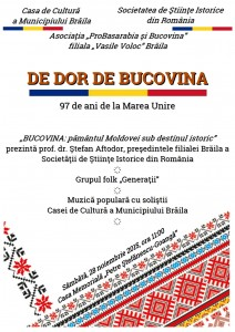 Afis A3 Bucovina 212x300 De dor de Bucovina