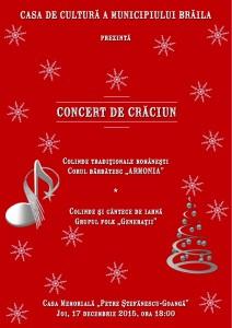 Afis A3 Concert Craciun 2 212x300 Concert de Crăciun