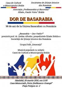 Afis A3 Basarabia 212x300 Dor de Basarabia