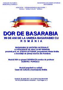 Afis Dor de Basarabia page 001 212x300 Dor de Basarabia